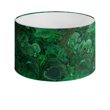 'Malachite' Drum Lamp Shade