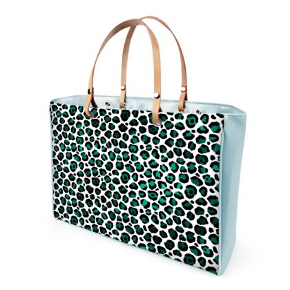 Teal Leopard Handbags