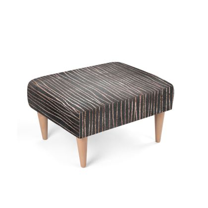 Rose Gold and Charcoal Footstool