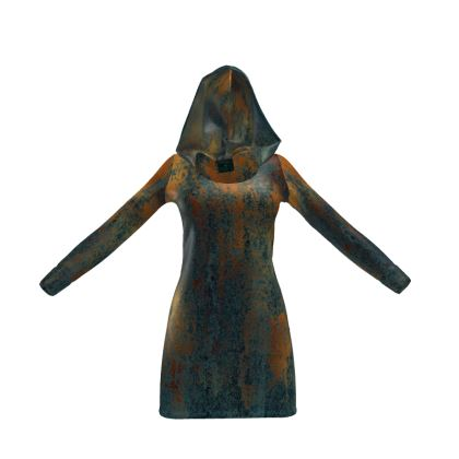 Copper Grunge Hoody Dress