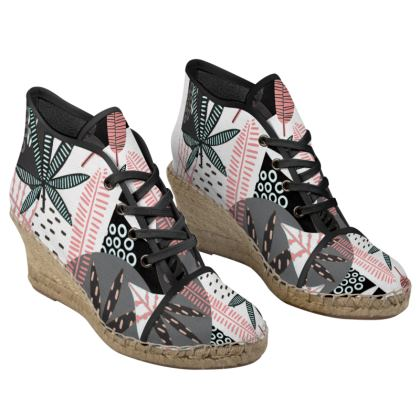 Tropical Toes Ladies Wedge Espadrilles