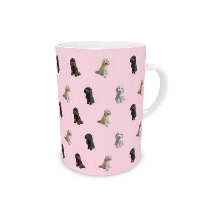 Pink Doodle Bone China Mug