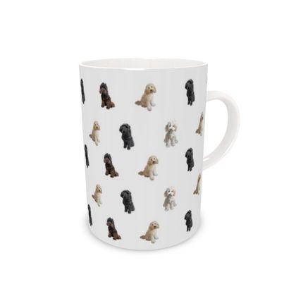 Grey Doodle Bone China Mug