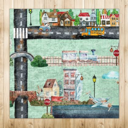 Town and Sea Playmat Rugs