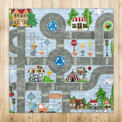 On the Road Playmat Rugs