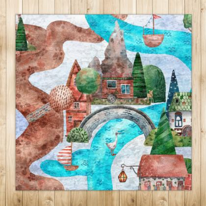 On the River Playmat Rugs