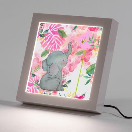 Ellie Elephant LED Frame