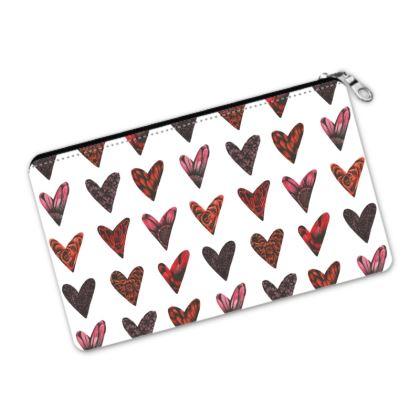 Floral Hearts Pencil Case