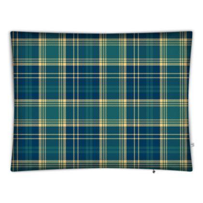 Highland Blue Tartan Floor cushions
