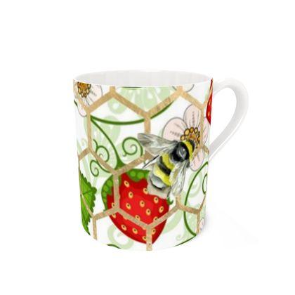 Sweet Strawberry Bone China Mug