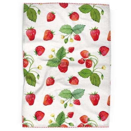 Sweet Strawberry Tea Towels