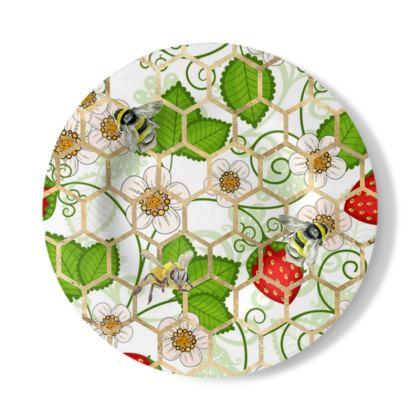 Sweet Strawberry Decorative Plate