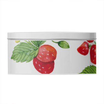 Sweet Strawberry Round Tin