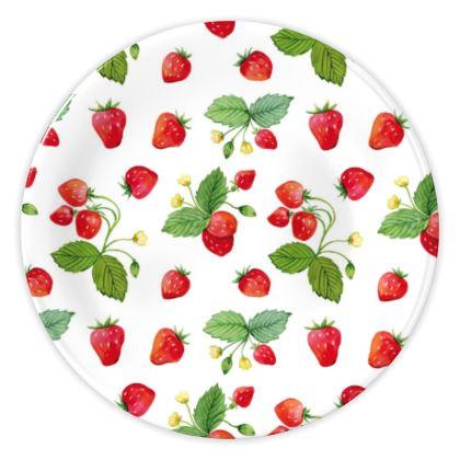 Sweet Strawberry China Plates