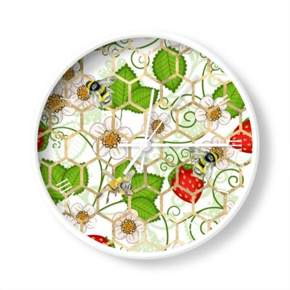 Sweet Strawberry Wall Clocks