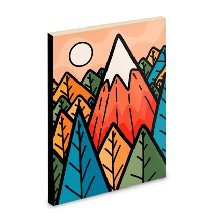 Pocket Note Book - The lone mountain forest
