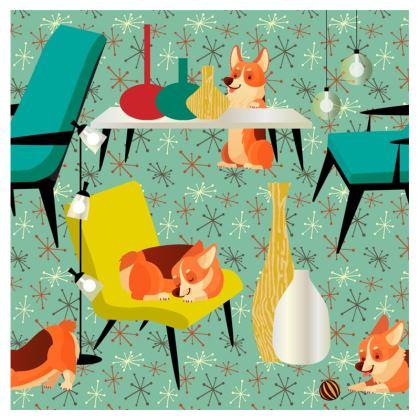 Mid Century Corgis Cushions