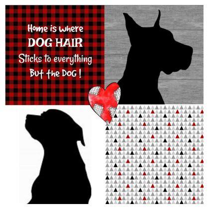 Dog Hair Patchwork Cushions