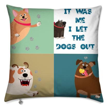 Let the Dogs out Patchwork Cushions