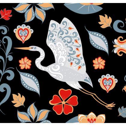 Folk Art Heron Cushions