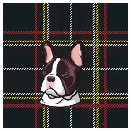 French Bulldog Zip Top Handbag