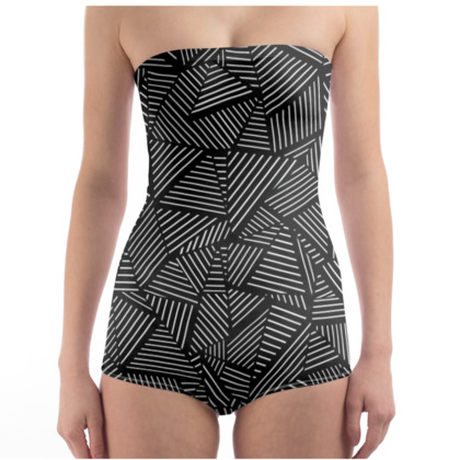 Strapless Swimsuit - Ab Linear