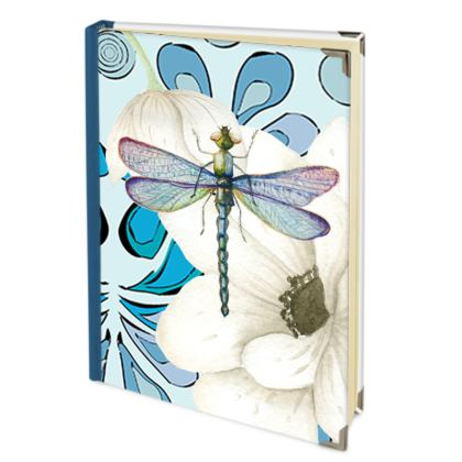 Dragonfly and White Blooms Journals