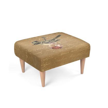 Steampunk Bird Footstool