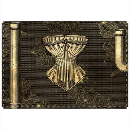 Steampunk Lady Folding Screen