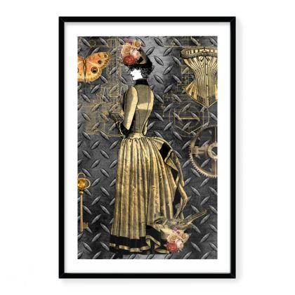 Steampunk Lady Framed Art Prints
