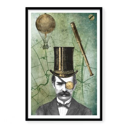 Steampunk Explorer Framed Art Prints