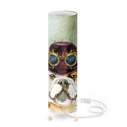 Steampunk Bulldog Standing Lamp