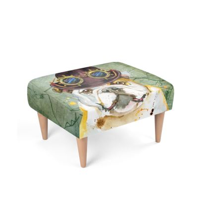 Steampunk Bulldog Footstool