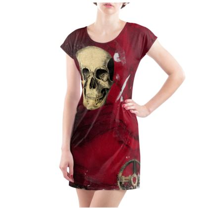 Syeampunk Red Ladies Tunic T Shirt