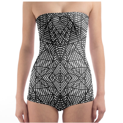 Strapless Swimsuit - Ab Lace