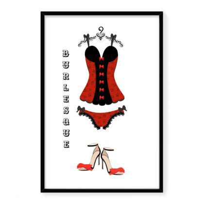 Burlesque Framed Art Prints