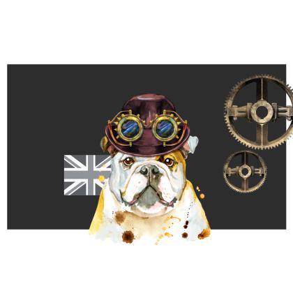 Steampunk British Bulldog Kika Tote