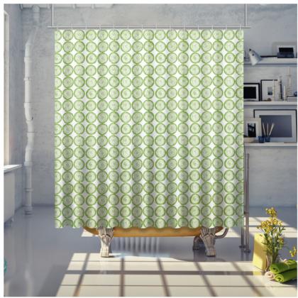 Shower Curtain - Sliced Logs