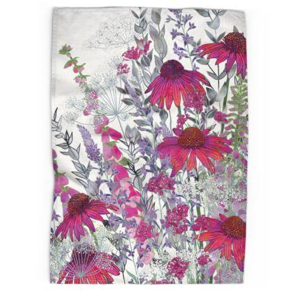 Pink Paradise Tea Towel