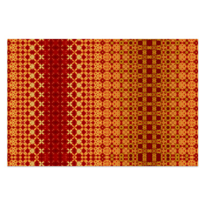 """Vibrant Red and Yellow decorative Sarong Classic Long - 66""""x44"""" (167cmx110cm)"""