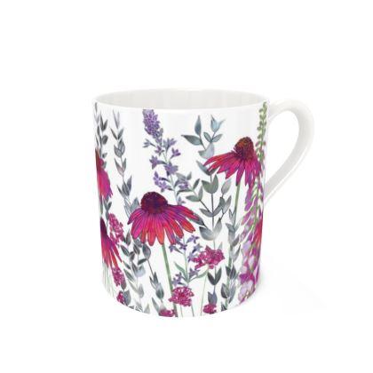 Large Bone China Mug - Pink Paradise