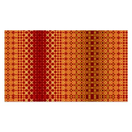 "Vibrant Red and Yellow decorative Sarong Plus Long - 76""x44"" (193cmx110cm)"