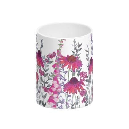Pink Paradise Tall Bone China Mug