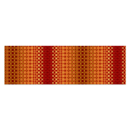 "Vibrant Red and Yellow decorative Sarong Plus Half - 76""x24"" (193cmx60cm)"