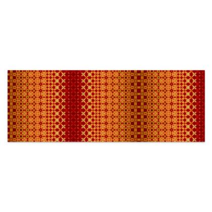 "Vibrant Red and Yellow decorative Sarong Classic Half - 66""x24"" (167cmx60cm)"