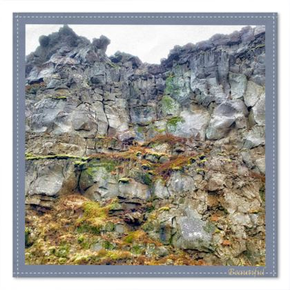 Beautiful Pocket Square - Iceland Cliff Face