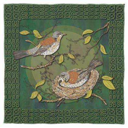 Nesting Birds Scarf, Wrap or Shawl