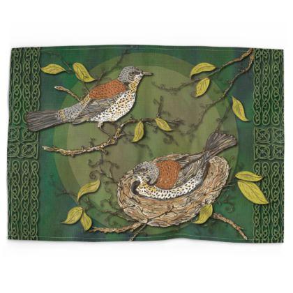 Nesting Birds Tea Towel