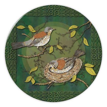 Nesting Birds China Plate
