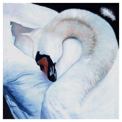 Heart Centred Swan Cushion